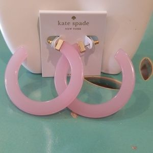 Kate Spade Blush Slide Of Touch Hoop Earrings